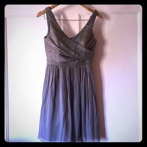 J. Crew Crepe Chiffon Semi Formal V Neck Dress P4